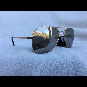 Rose Gold Aviator Sunglasses NWT